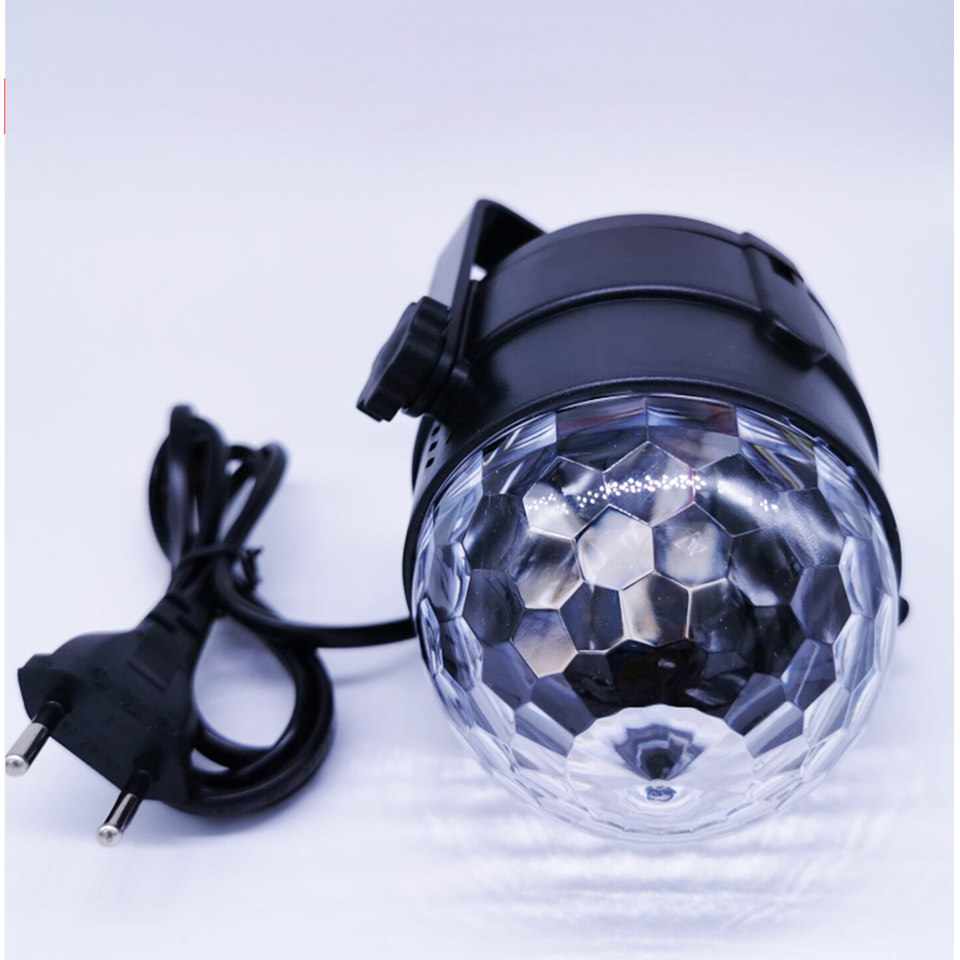 Image 4 - 3W  Led Disco E27 Light Stage Lights Ball Sound Activated Laser Projector effect Lamp Light for home Christmas party decoration-in Stage Lighting Effect from Lights & Lighting on