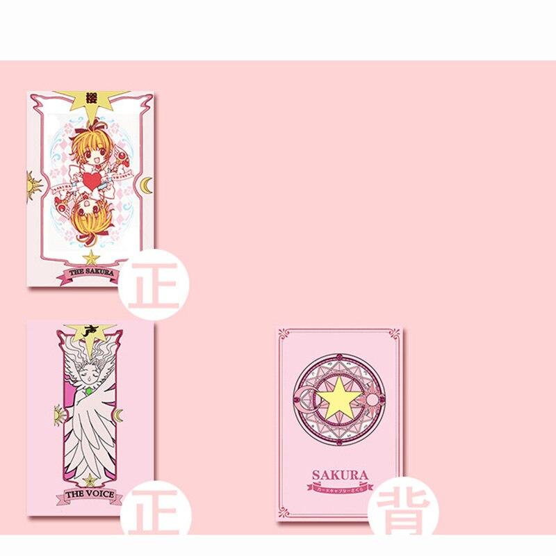 2 Kinds Anime 54 pcs Cosplay Cards Captor Sakura Tarot with Clow Cards Poker Gift Playing Cards 5