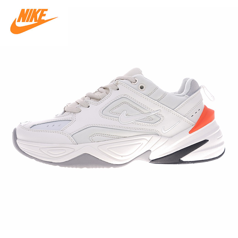 Nike Air Monarch The M2K Tekno Men's and Women's Running Shoes, Beige/black, Wear-resistant Breathable AO3108 001 AO3108 002