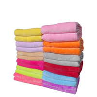 2014 New 100 Double Faced Coral Fleece Flannel Fabric Super Soft Air Condition Blanket Solid Warm