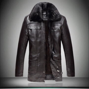 2016 New Jaquetas De Couro Hot Selling Jaqueta Couro Men's Leather Jacket Male Collar Motorcycle Jackets, Thicken Jacket, Coat