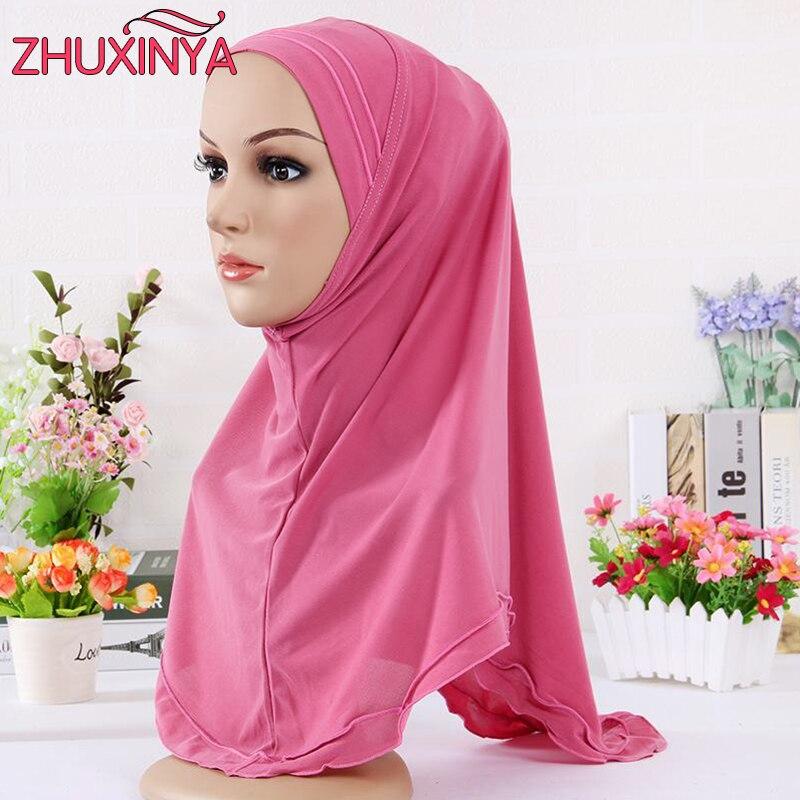 Heißer Verkauf 12 Farbe Hijab/Schal/Kappe/Hut Frauen Polyester ...