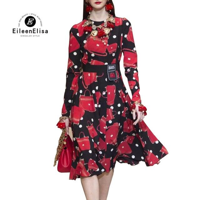 Womens Designer Luxury Printed Dresses Summer Dress 2018 New Fashion Women Dresses Stripe