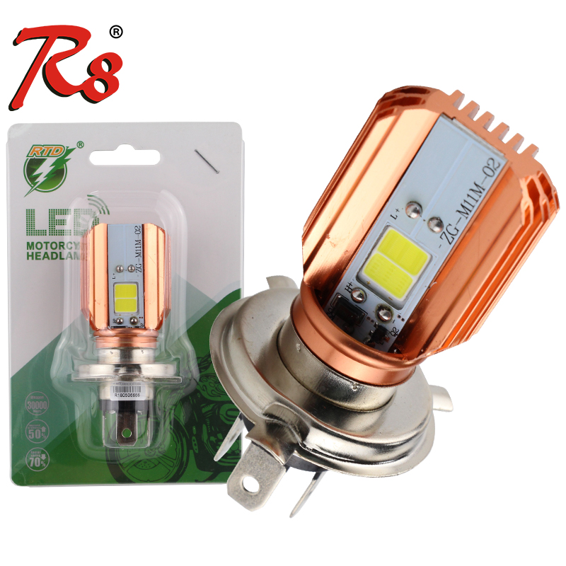 1 Piece RTD M11M H4 HS1 P43T Motorcycle LED Headlight Bulb 20W 2000LM ATV Motorbike Scooter E-bicycle Head Lamp Plug And Play