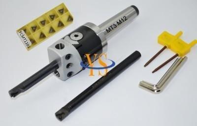 Morse taper MT3 M12 MK3 Boring head 50mm & 2pcs Borng bar 12mm &10pcs inserts hight quality morse taper shank drill chucks set cnc lathe drill chuck 5 to 20mm b22 with no 3 morse taper mt3 with key