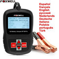 Car Battery Tester 12V Analyzer Original Foxwell BT100 12 Volt Automotive Battery Analyzer With Russian Spanish French English