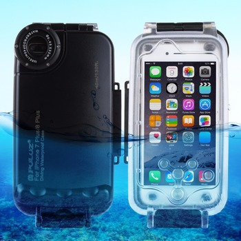 PULUZ for iPhone 8 Plus & 7 Plus/ 6 Plus & 6s Plus 40m/ 130ft Waterproof Diving Housing Photo Video Taking Underwater Cover Case