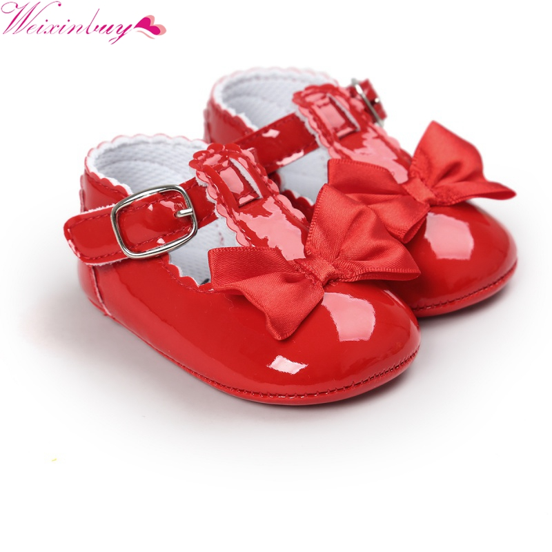 2017 Fashion Kids Baby Girls Newborn Shoes PU Leather First Walkers Støvler Cute Non-slip Shoes