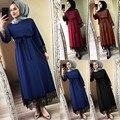 Vestido muçulmano feminino 2019 vestidos superiores abaya dubai ramadan caftan marroquino vestido muçulmano turco