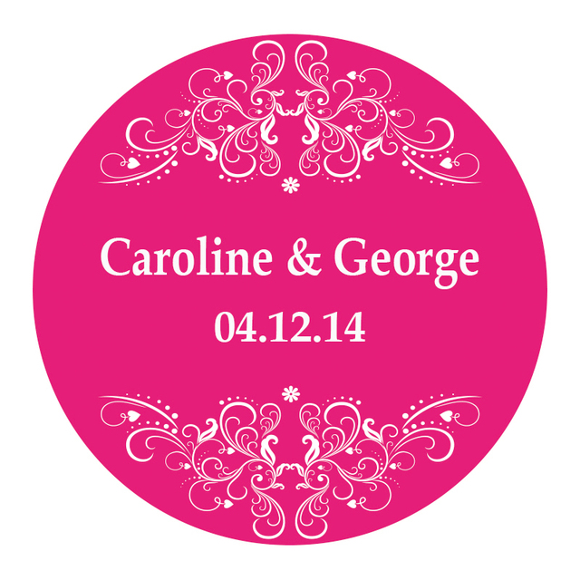 Customized wedding design sticker labels seals 3cm gift stickers for wedding seals50pcs