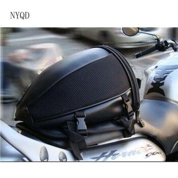 2017 באיכות גבוהה משלוח חינם חדש אופנוע זנב תיק אופנוע מושב תיק ספורט חזרה יד תיק כתף תיק עמיד למים מצויד