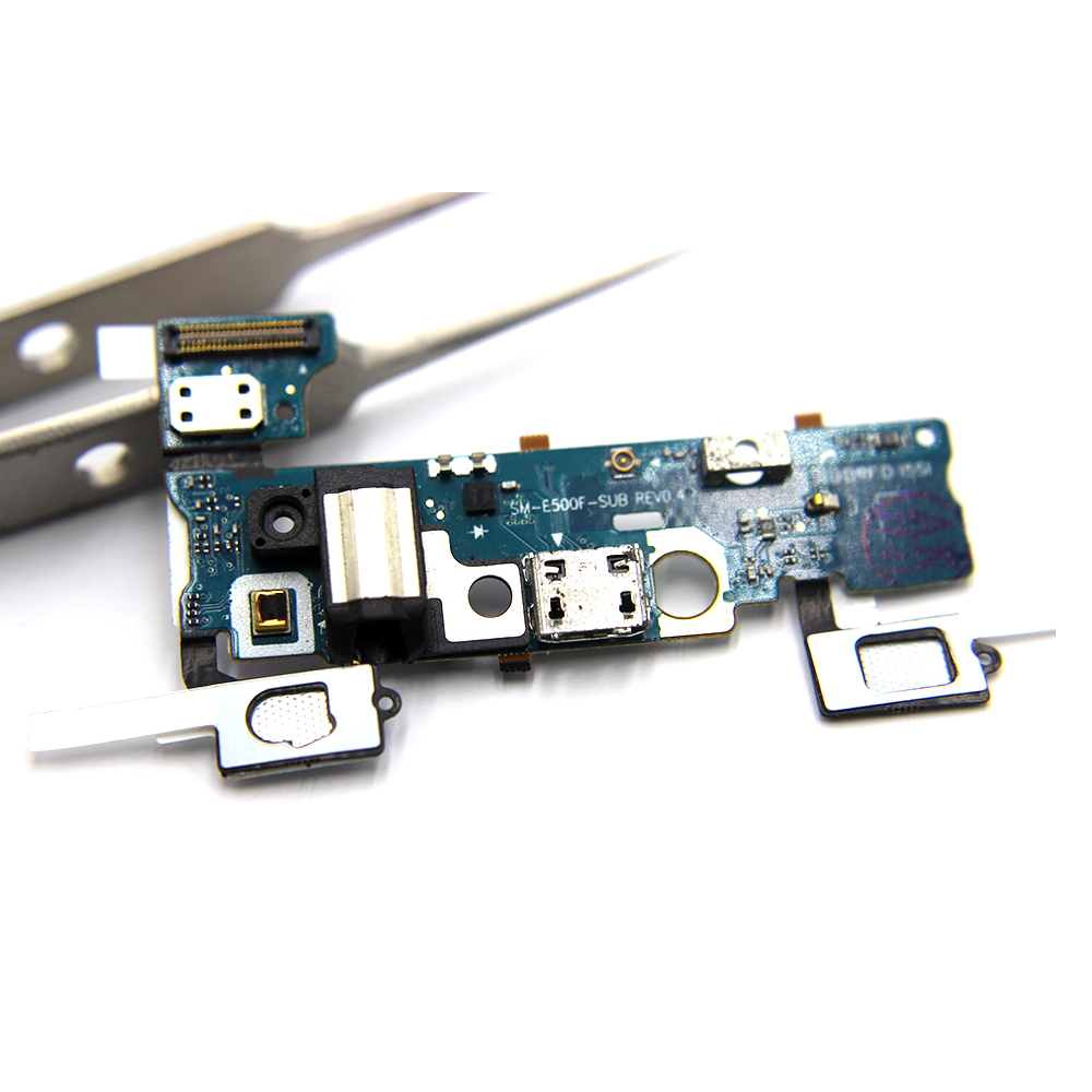 New USB Charging Flex Cable For Samsung Galaxy E5 E500 E500F E500M E500H Assembly Headphone Jack Audio MIC USB Port Socket Dock