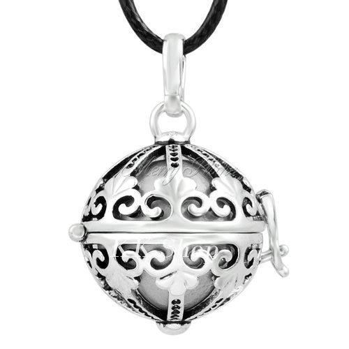 Беременность подарок для ребенка из черненого Медь в форме металлической птичьей клетки кулон ангел абонент Подвески 20 мм Музыкальный шар, гармония Bola кулон Цепочки и ожерелья H119 - Окраска металла: Gray