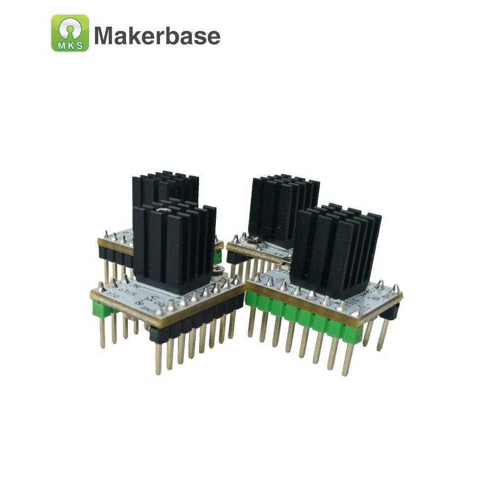 5 unids 3D piezas de la impresora StepStick MKS TMC2208 paso a paso conductor ultra-silencioso paso controlador de controlador incorporado actual 1.4A