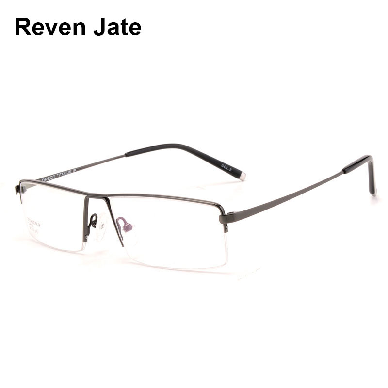 Reven Jate Spectacles Optical Business Brillengestell aus Titan für Herrenbrillen, semi-randlose Brillen mit 4 optionalen Farben