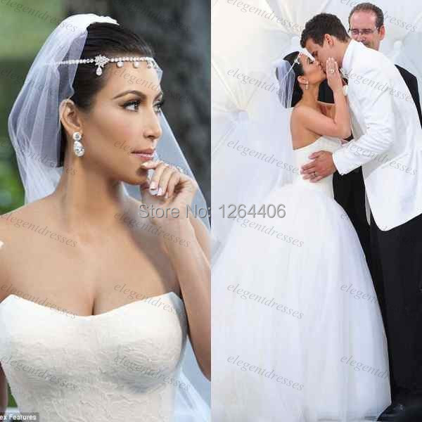Kim K Wedding Gown: Free Shipping Sweetheart Neckline Ball Gown Bridal Gown