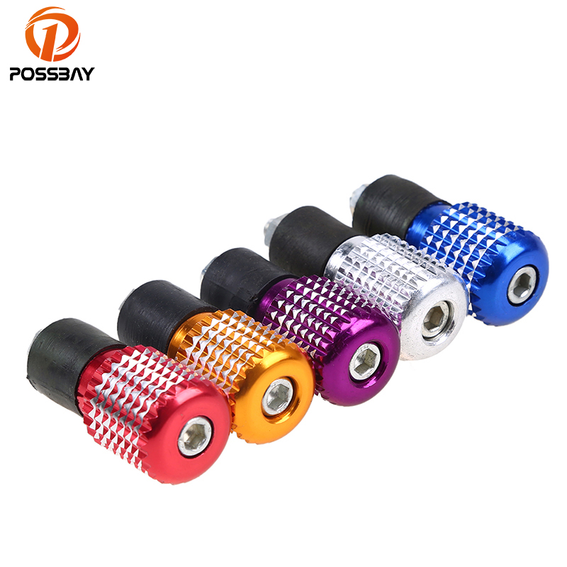 POSSBAY 7/8 22mm Motorcycle Handlebar End Grips Universal fit for Yamaha Honda Harley Suzuki Scooter Bar Ends Handlebars Caps