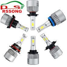 LED Car Bulb H4 H7 H11 9005 9006 H1 H3 COB Chip Auto Headlight 6000K 12V