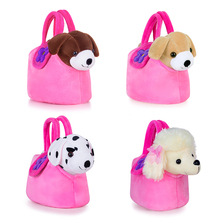 Lazada Plush Puppy Toys Stuffed Animal Dog Doggy Dolls With Pink Hand Bag Christmas Gifts For Children Kids Boys Girls 7''