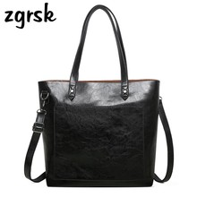 Women Pu Leather Handbags High Quality Vintage Hand Bags Sac A Main Large Capacity Tote Bag Female Top Handle Bag Handbag women backpack high quality pu leather sac a main school bags for teenagers girls top handle large capacity student package