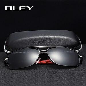 Мужские и женские зеркальные очки OLEY, алюминиевые солнцезащитные очки с поляризационными стеклами, степень защиты UV400, Y7613, лето 2019