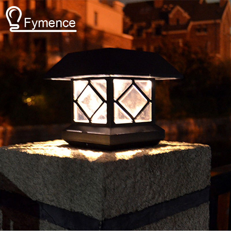 New Outdoor Led Light Waterproof Solar Post Lights