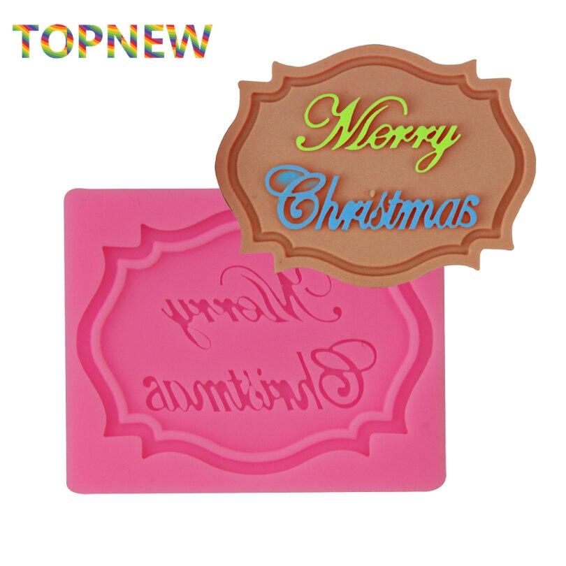 Frohe Weihnachten Rahmen Silikonform Fondant Schokolade Cupcake ...