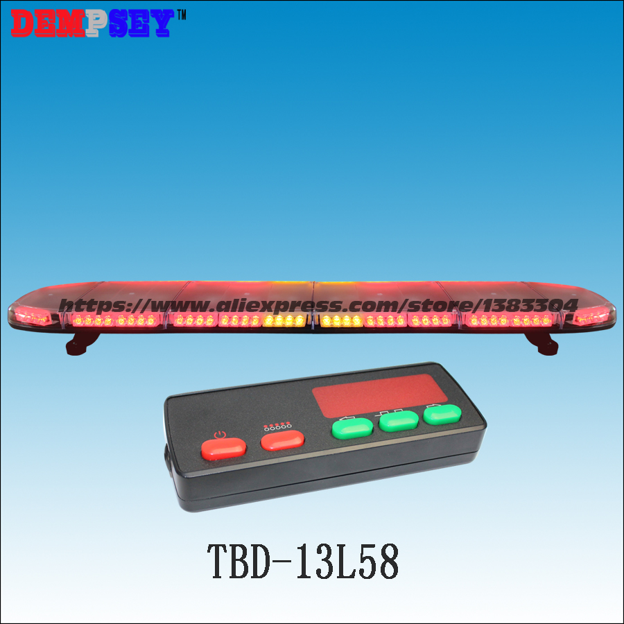 TBD-13L58 High quality super bright 59'' Red&Amber LED Warning lightbar,emergency/police lightbar, Car Roof Flash Strobe light fire steel survival striker army camping hunting flint with plastic holder