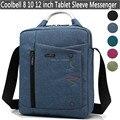 2016 Nueva Moda 8 9 10 11 Cubierta de La Tableta de 12 pulgadas mensajero del bolso de hombro para macbook/ipad hombres mujeres niños niño bolsa