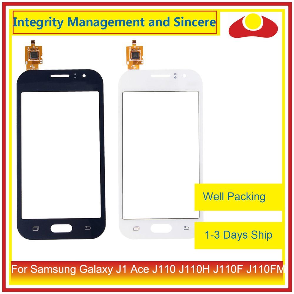 10Pcs/lot For Samsung Galaxy J1 Ace J110 J110H J110F J110FM Touch Screen Outer Glass Lens Panel Digitizer Sensor Touchscreen