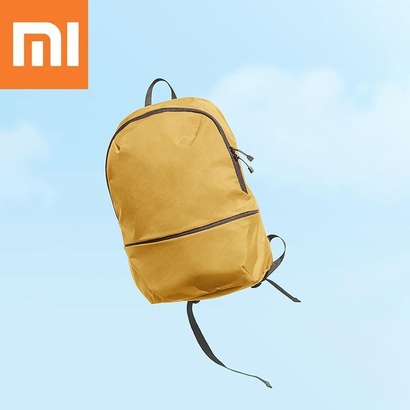 Vornehm Xiaomi 11l Rucksack 5 Farben Ebene 4 Wasserdichte Nylon 150g Leichte Schulter Tasche Für 14 Zoll Laptop Camping Reise