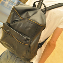 KUNDUI Luggage men casual preppy backpack style retro fashion female student backpacks PU leather travel bags girl school bag