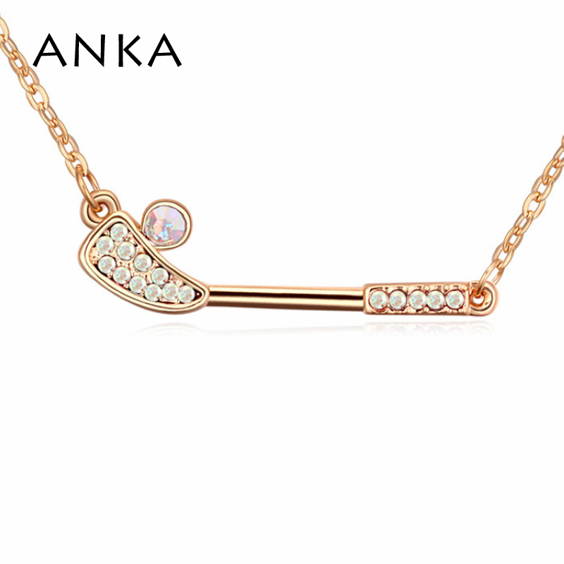 2018 Direct Selling Limited Trendy Women Pendant Necklaces Plant Collar Golf Champagne Gold-color Necklace #109100