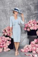 Vivian's Bridal Twinset Mother Of The Bridal Dresses British Style Knee length V Neck Dress Short Jacket Evening Party Mom Suit