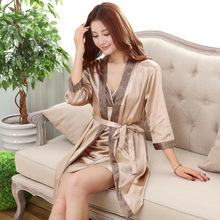 Long Robe Satin Rayon Bathrobe