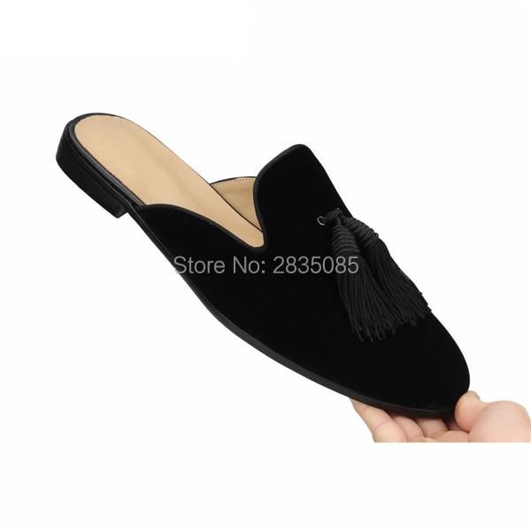 066544365 Sapatos Casuais As Homem Ao Borla Pic Loafers Pic Homens Mulas Livre Preta  Franja Planas Ar ...