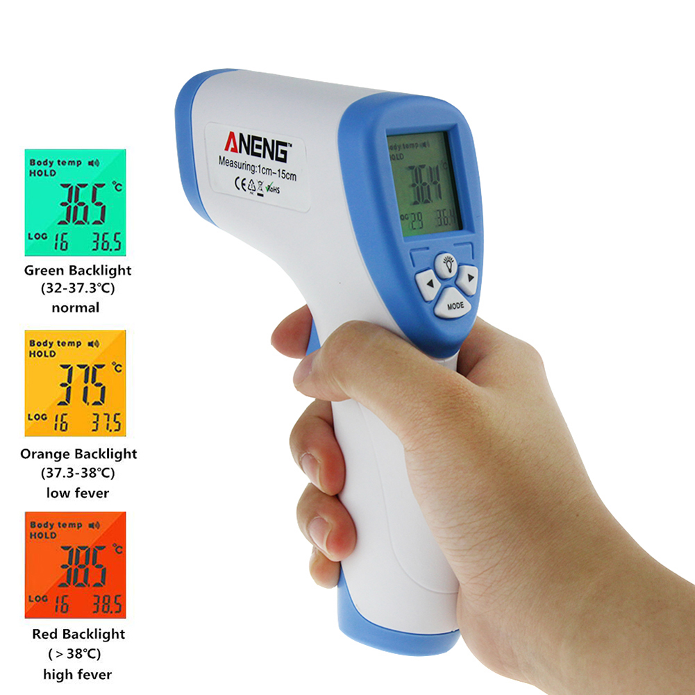Digital Thermometer Infrared Baby Adult Forehead Non-contact Infrared Thermometer With LCD Backlight Bestselling drop shipping