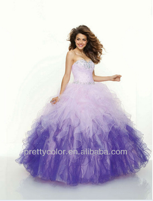 Puffy Prom Dress Cheap Plus Size Ball Gowns Little Girl Quinceanera