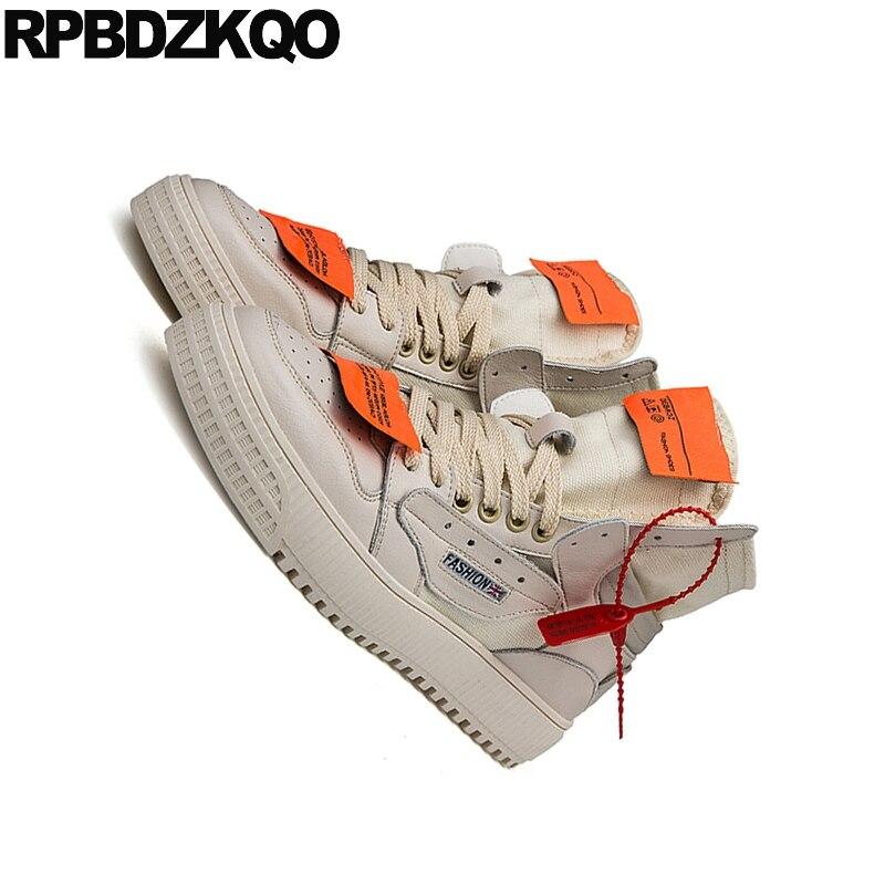 Retazos Encaje Casual blanco Moda De Zapatillas Botas Alta Otoño 2018 Cortos Zapatos Calidad Botines Lona Beige Hombre Para Entrenamiento Diseñador RR8qBZ