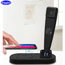Bluetooth Mobile Phone Wireless Charger Riggler 10W Quick Charge Cellphone Stand for iphone XS MAX X 8 Plus Huawei Mate20Pro Sam
