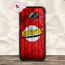 The Big Bang Theory Bazinga Hard Case For Samsung Galaxy S7 S6 Edge Plus S5 mini S4 active S3 Core 2 Win A7 A5 A3 Ace 3 Note 5 4