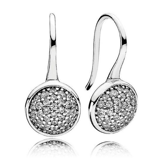 Hot Sale 925 Sterling Silver Dazzling Droplets Pan Stud