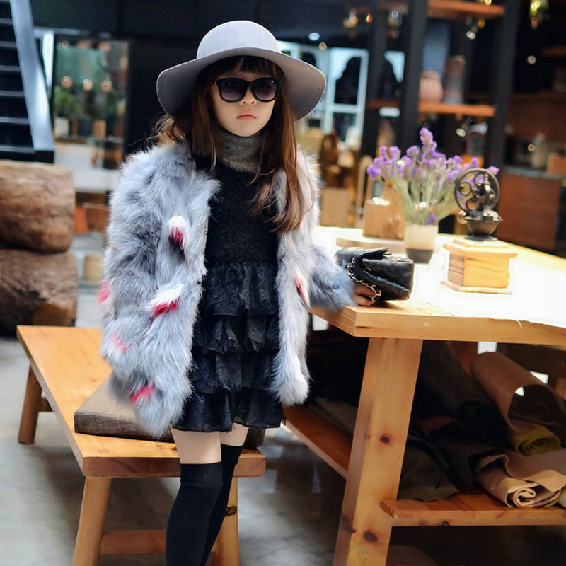 Korean Style Fox fur jacket Women Winter Short Wool Coat For Girls Plus cotton jacket Real Fur Overcoat Warm Coat CT-09 elegance princess winter wool coat 2016 new fashion fur stand collar overcoat winter warm jacket for girls pink red 120 160cm