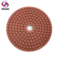 RIJILEI 7 PCS/Set 4inch Diamond Polishing Pad 100mm Wet polishing pads for Stone Granite Marble Diamond Abrasive Tools HC11