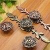 MEGAIRON 1PC Antique Retro Zinc Alloy Door Knob Bronze Wardrobe Cabinet Kitchen Knob Drawer Pull Handle