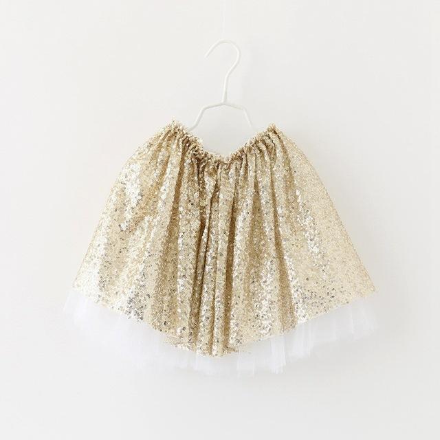 NUEVAS chicas faldas de lentejuelas princesa falda de la muchacha ropa de los niños 2 colores 5 unids/lote al por mayor 3499