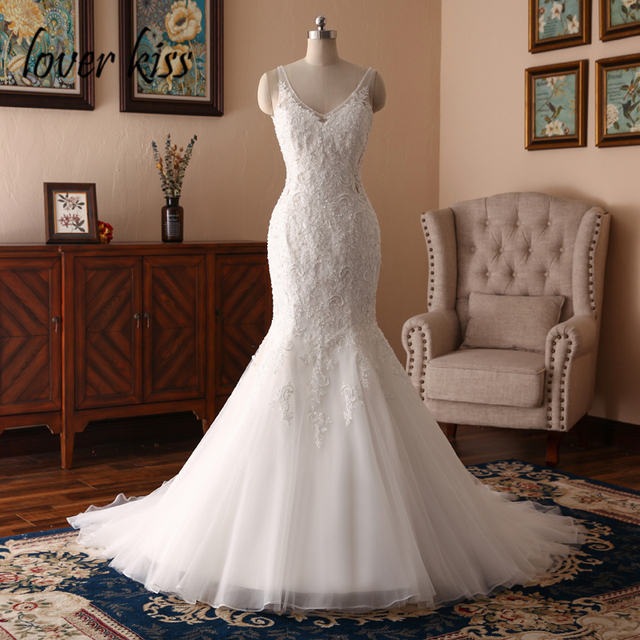 Lover Kiss Boho Robe Mariee 2018 Y Wedding Dress For Las Marriage Party Lace Beaded Bridal
