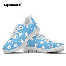 Doginthehole Dentist Pattern Sneakers Women Sport Shoes Woman Outdoor Walking Trainers Breathable Mesh Cute Nurse Female