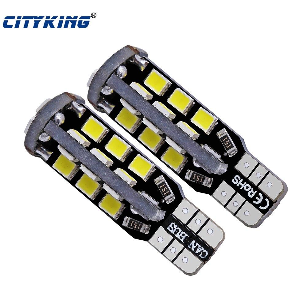 100ピース/ロットt10 led canbus w5w t10 27led 2835 smdホワイトライトt10 27smdエロ無料車電球ランプパーキングライト外部ライト  グループ上の 自動車 &バイク からの 信号ランプ の中 1