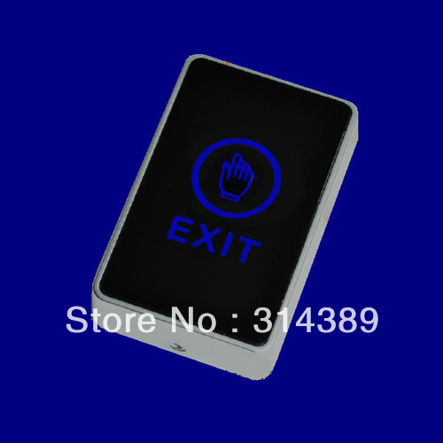 Touch Switch,Exit Button,Access control switch!Touch Button. blue back light electric box cassette.C1 touch back